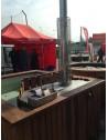 Minipiscina in PP 160x160x100 Rettangolare in legno termo Scegli diametro e altri Spa aggiuntive: