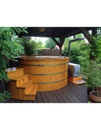 Hot tub in polipropilene 1.50 m decorato abete siberiano Modello base