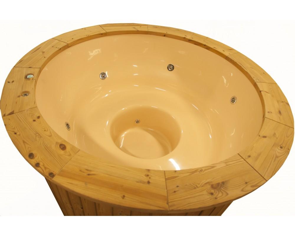 Vasca in Vetroresina 1.8 m LED Jacuzzi, design legno termico modello esclusivo