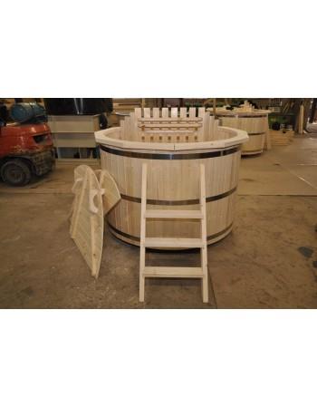 Tinozza in legno 160 m. abete roso + stufa interna
