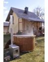 Hot tub classico 1.60 m. Idromassaggio +bolle d'aria+cromoterapia+isolamento termico + Stufa