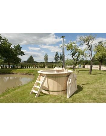 Prezzo basso !!! Hot tub spa PP 1.50 m design legno Abete + stufa