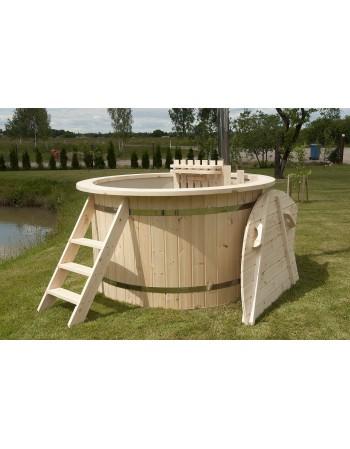 Prezzo buono!!! Hot tub spa PP 1.50 m design legno Abete + stufa interna