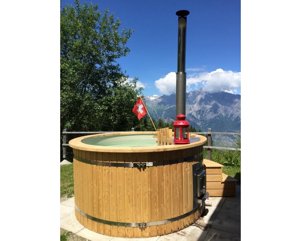 Spa tinozza in PP legno Larice dal 150...2200 cm seleziona attrezzature aggiuntive e diametro