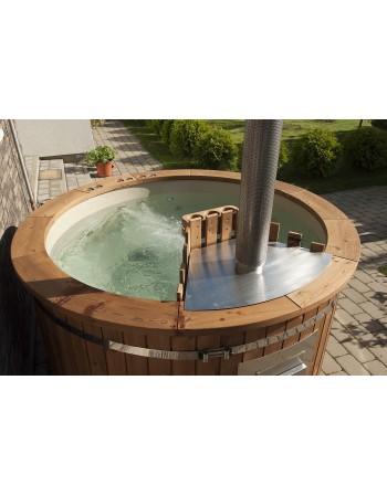 VIP Hot Tubs spa PP 180 m con doppio Jacuzzi, bolle d'aria, 5 pz Led stufa interna AISI 316