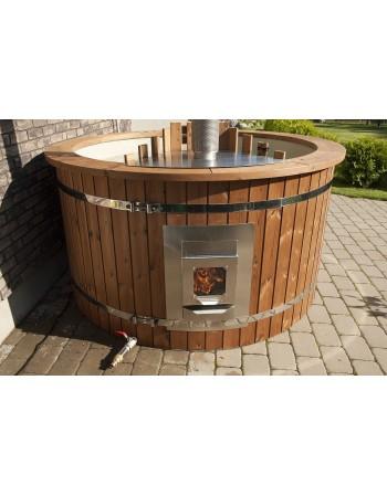 Stufa integrata al interno AISI 304, 28kW con sportelo in vetro