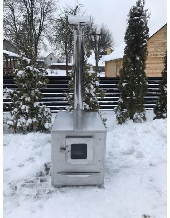 Innovativa Nuova e POTENTE STUFA ESTERNA 35 kW