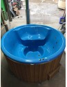 Wellness Blu con stufa incorporata 2 Led RGB + Jacuzzi