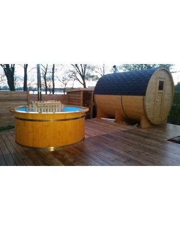 Sauna rotonda esterna a botte