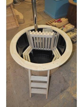 Prezzo basso: Hot Tub in legno abete siberiano con PP 1.60 m