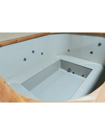 Mini piscina all'incasso 160 cm x 200 cm Spa Idrogetti