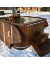 Mini piscina con SPA Extra stufa integrata 2 m x 2 m