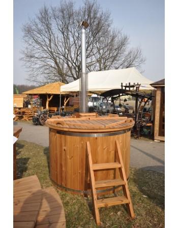 Modello ecologico Hot Tub spa Pine Scandinava con stufa