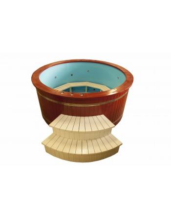 Vasca idromassaggio PP 2.20 m decorata legno di abete pitturato