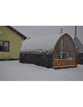 Sauna da esterno Iglo 5 metri con finestra panoramica