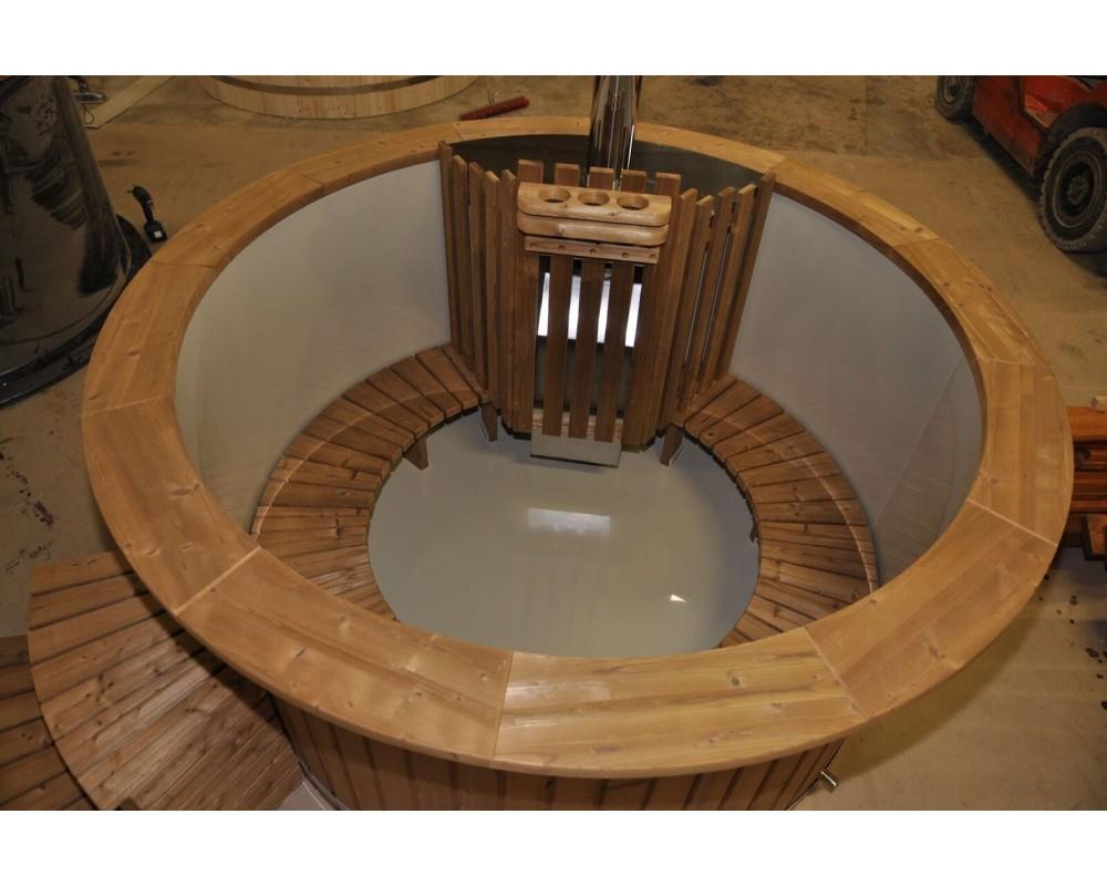 Vasca 180 m PP legno termo con stufa interna
