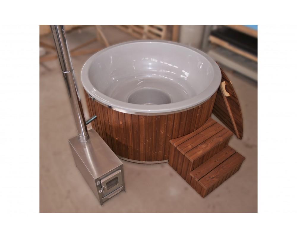 Wellness perlato vetroresina design legno TERMO