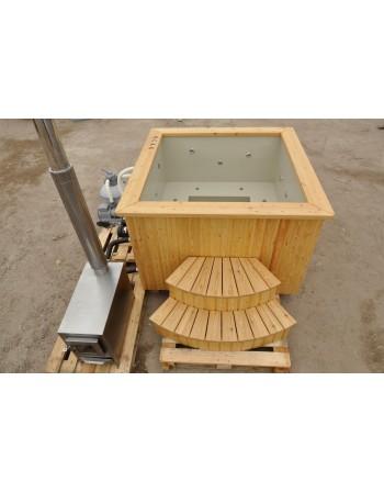 Mini-piscina 160x160 PP comfort Larice scegli diametro e Spa