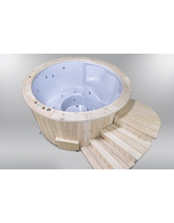 Hot Tubs Royal Wellness con stufa a legna 180 cm