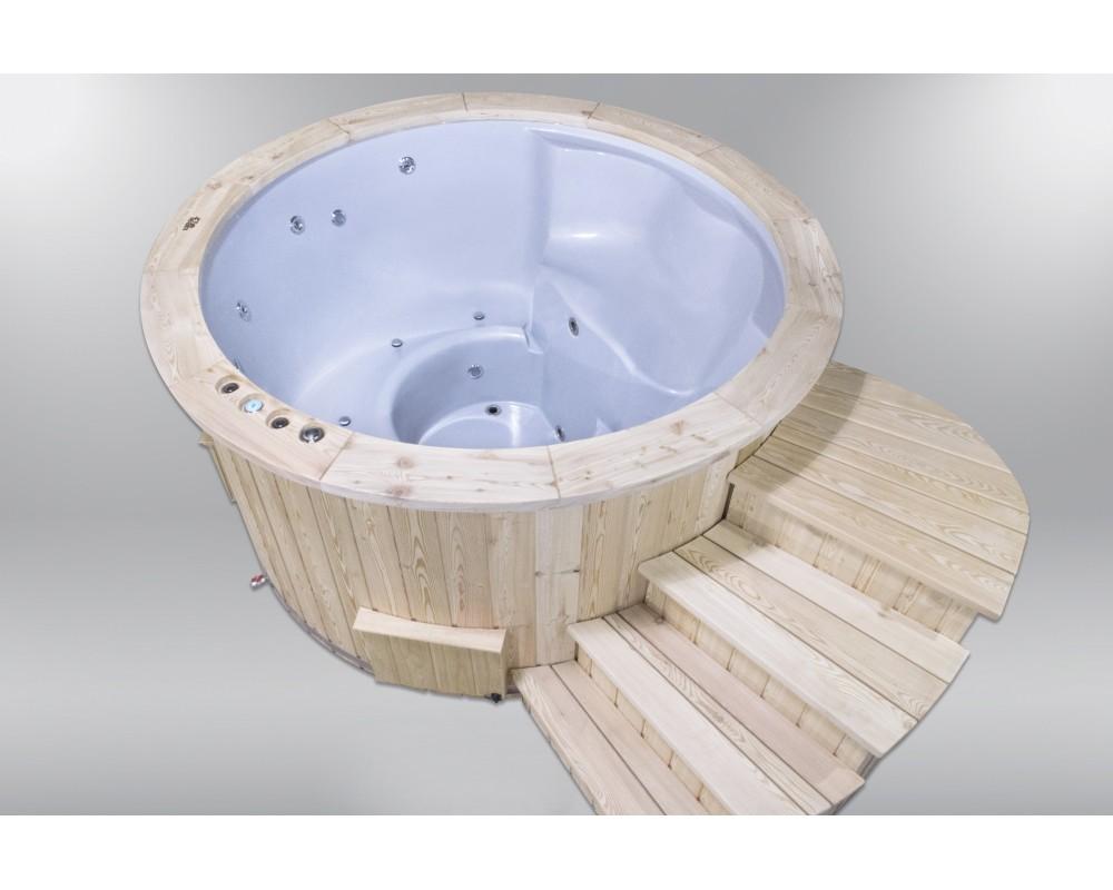 Hot Tubs Royal Wellness con stufa a legna 180 cm