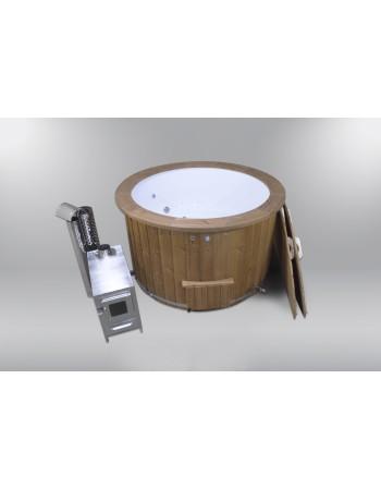 Hot Tub confortevole classico in vetroresina, cromoterapia, bolle d'aria