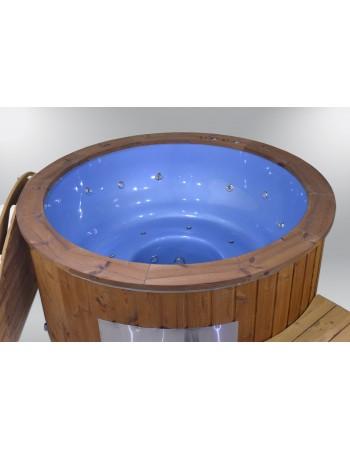 Blu vetroresina 182 cm. Con idrogetti+bolle d'aria+cromoterapia