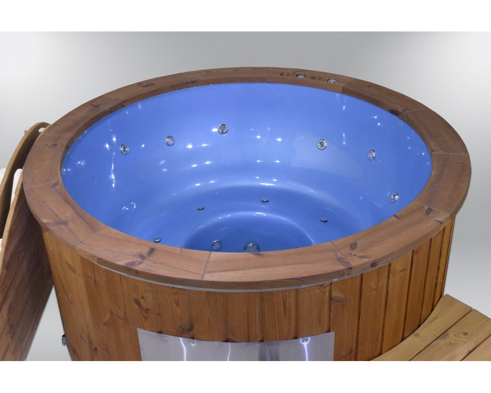 Blu vetroresina 182 cm. idrogetti + bolle d'aria + cromoterapia